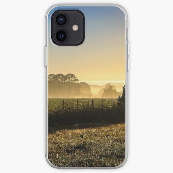 Misty Winter Sunrise in Rural Victoria #2 iPhone Soft Case