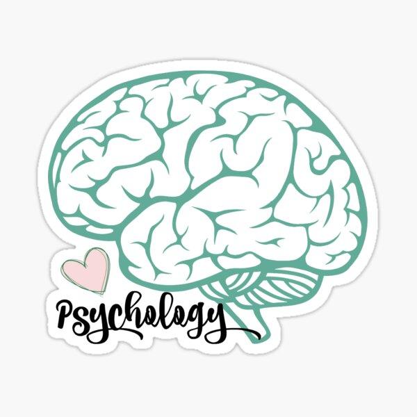 Pegatina cerebro psicología Pegatina