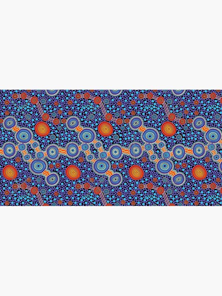 Authentic Aboriginal Art - The Journey Blue by HogarthArts