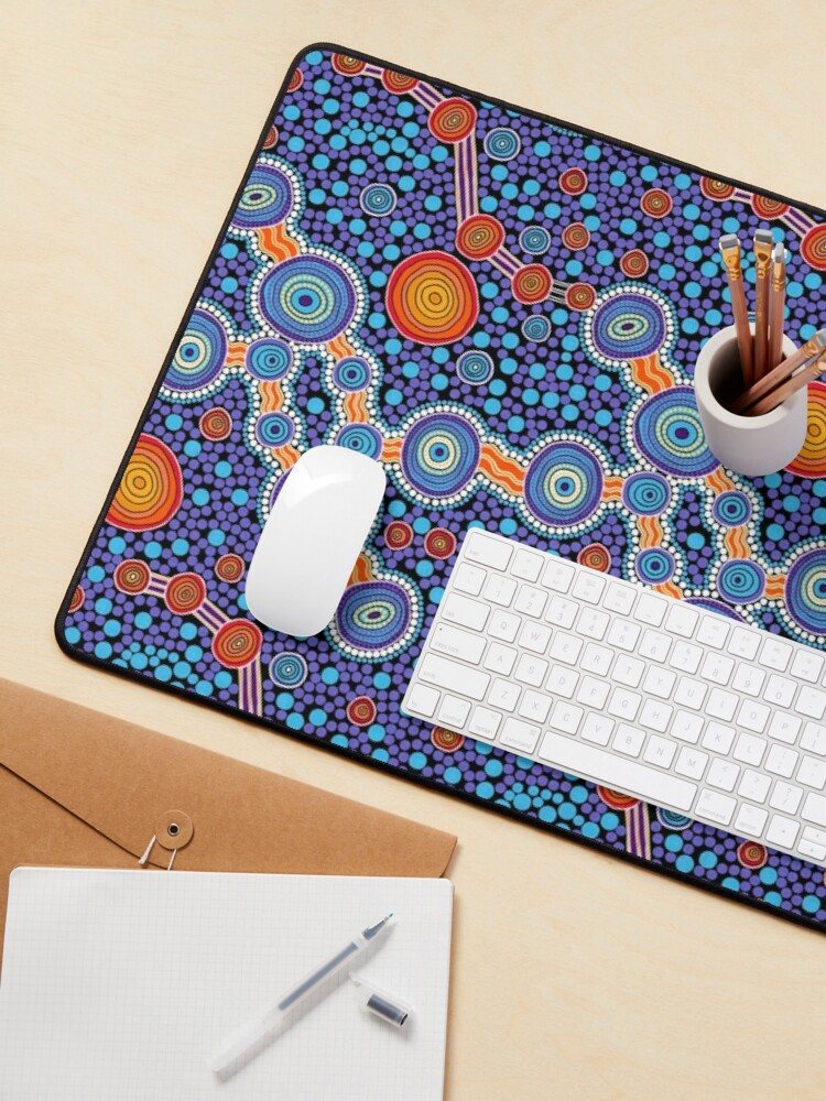 Alternate view of Authentic Aboriginal Art - The Journey Blue Mouse Pad