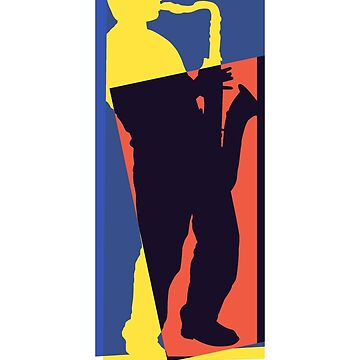 Pop Art Sax Player 1 by retrorebirth
