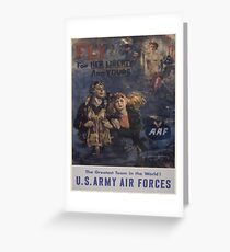 Vintage poster - Air Forces Greeting Card