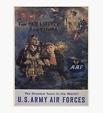 Vintage poster - Air Forces Photographic Print