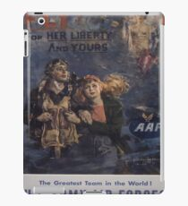 Vintage poster - Air Forces iPad Case/Skin