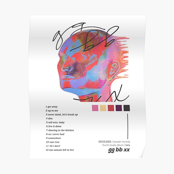 LANY gg bb xx Album Cover Poster Poster