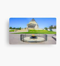 Eternal Flame at the Shrine of Remembrance, Melbourne Metal Print