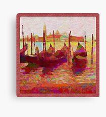 Venice Gondolas Abstracted Canvas Print
