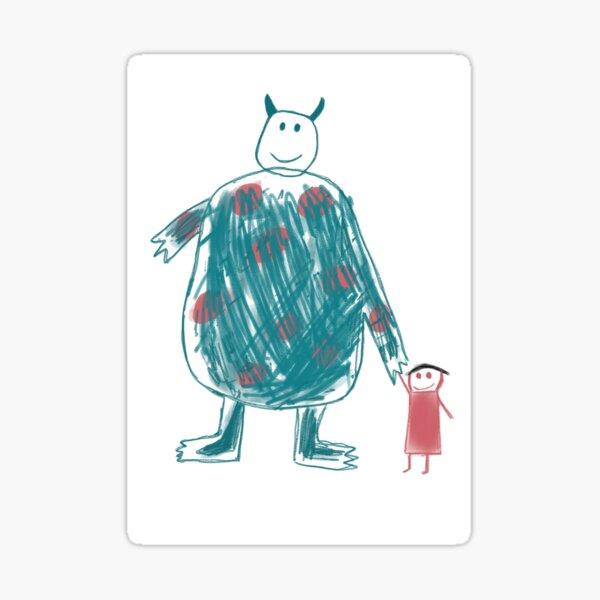 Boo's Drawing Sticker