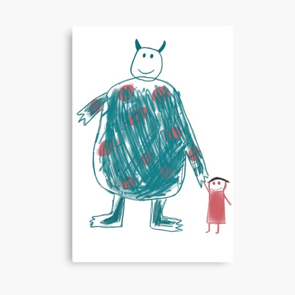 Boo's Drawing Canvas Print