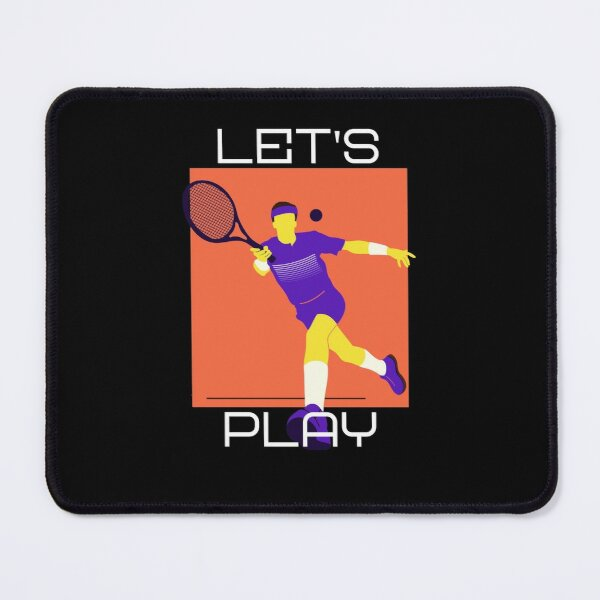 Tennis Player - Let's Play Mouse Pad