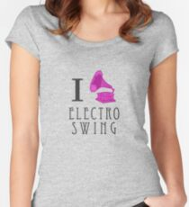 I Love Electro Swing Fitted Scoop T-Shirt