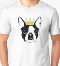 Boston Terrier with Crown T-Shirt