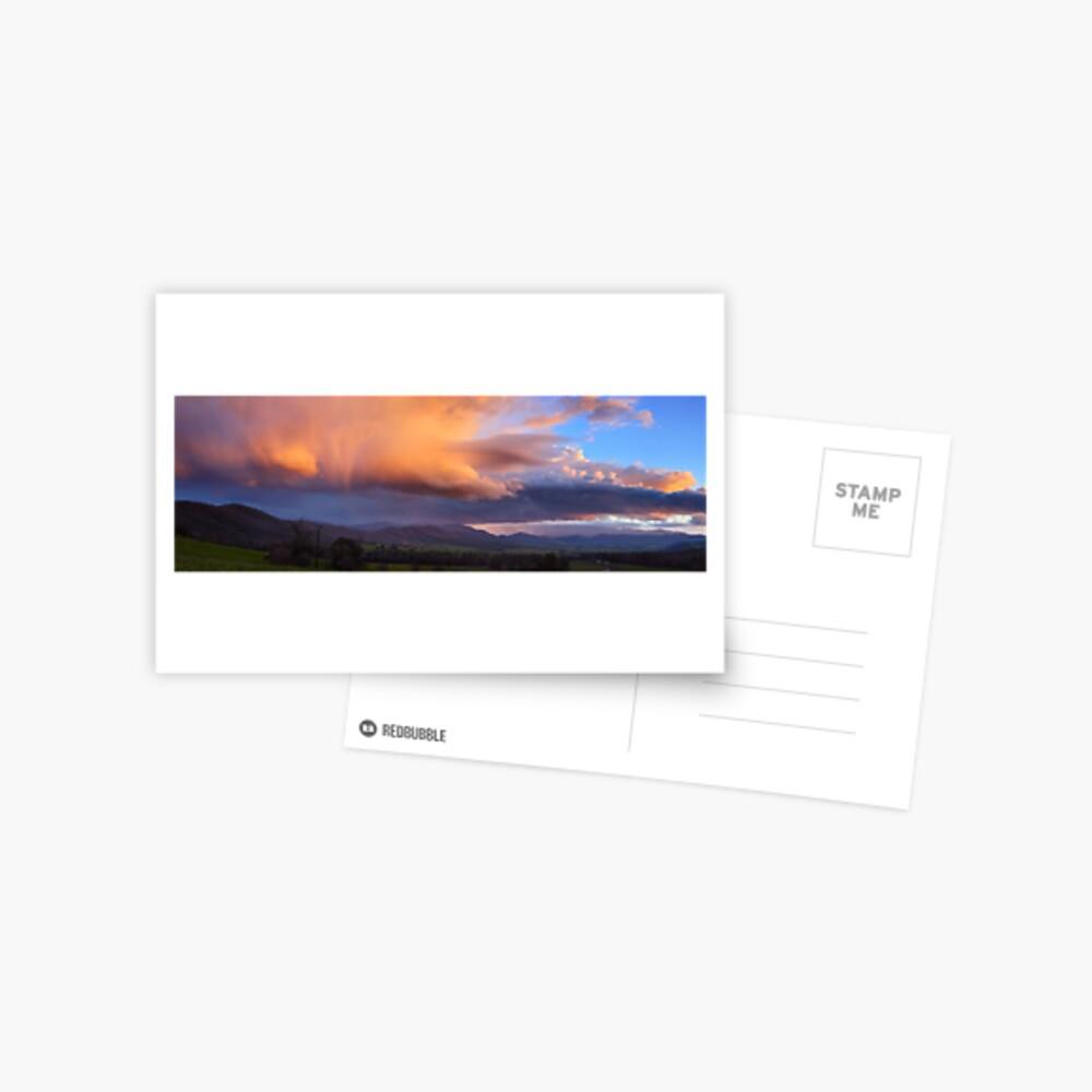 Stormy Sunset over Happy Valley, Myrtleford, Victoria, Australia Postcard