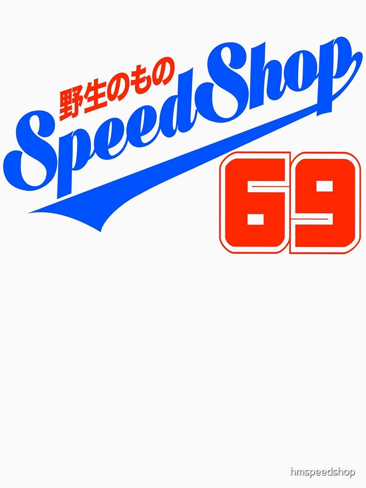 Calcomanía HM Speed Shop JP SCRIPT 69 de hmspeedshop