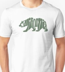 Green California Bear T-Shirt