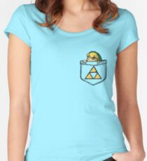 Legend of Zelda - Pocket Link Women's Fitted Scoop T-Shirt