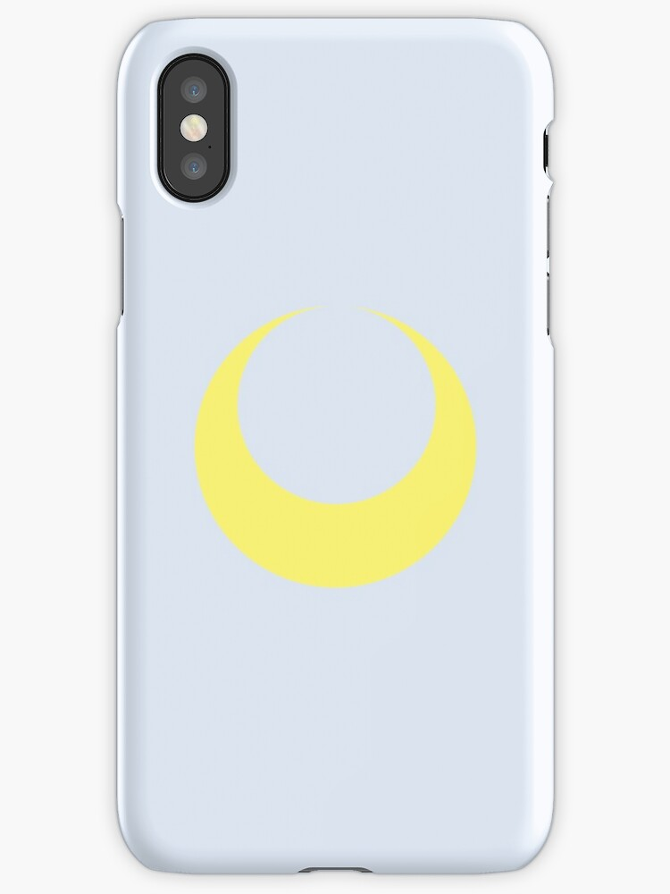 Sailor Moon Symbol Blue Iphone Cases Covers By Laurenies Redbubble