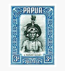 1932 Papua New Guinea Native Dandy Postage Stamp Photographic Print