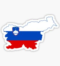 Slovenia Flag Map Sticker