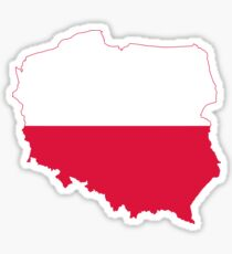 Poland Flag Map Sticker