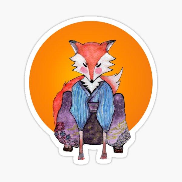 Transformation of Mr. fox Sticker