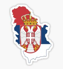 Serbia Flag Map Sticker
