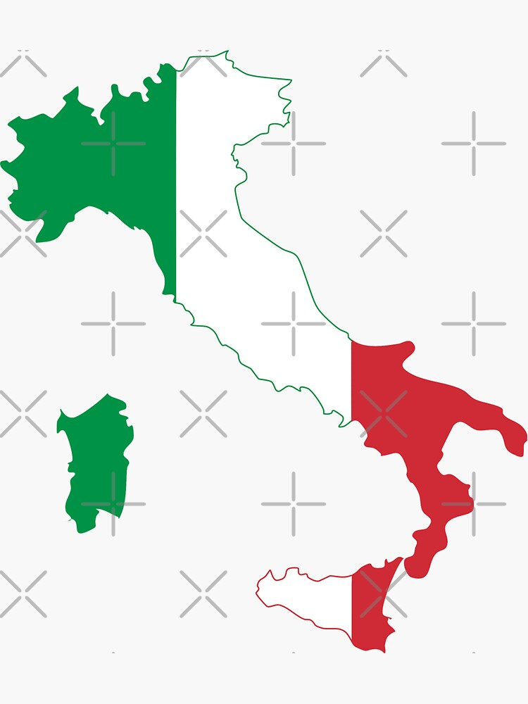 Italy Flag Map by limitlezz
