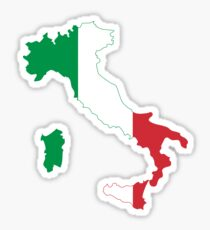 Italy Flag Map Sticker