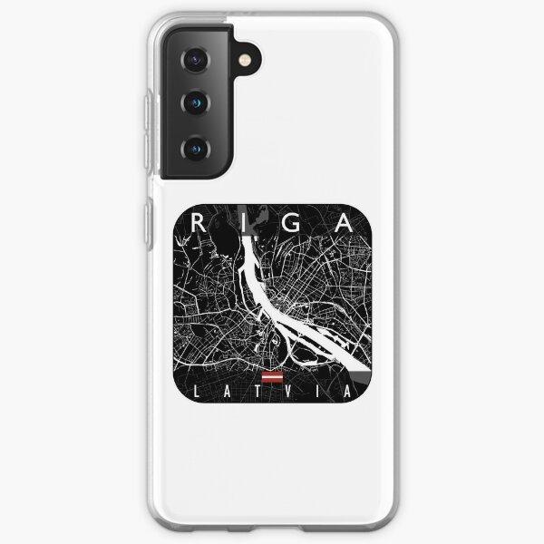 RIGA MAP LATVIA Samsung Galaxy Soft Case