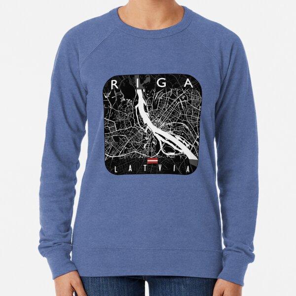 RIGA MAP LATVIA Lightweight Sweatshirt