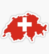 Switzerland Flag Map Sticker