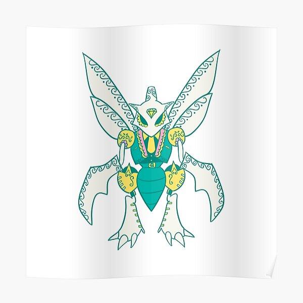 Scyther Popmuerto   Pokemon & Day of The Dead Mashup Poster