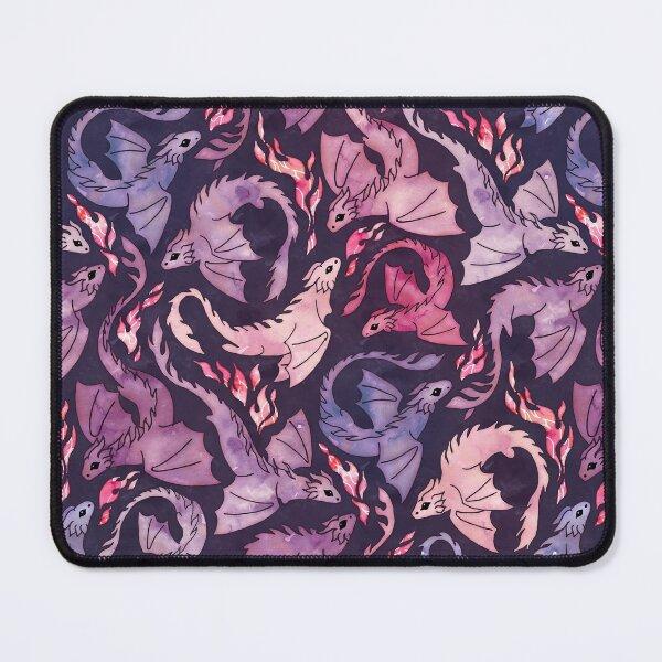 Dragon fire dark pink & purple Mouse Pad