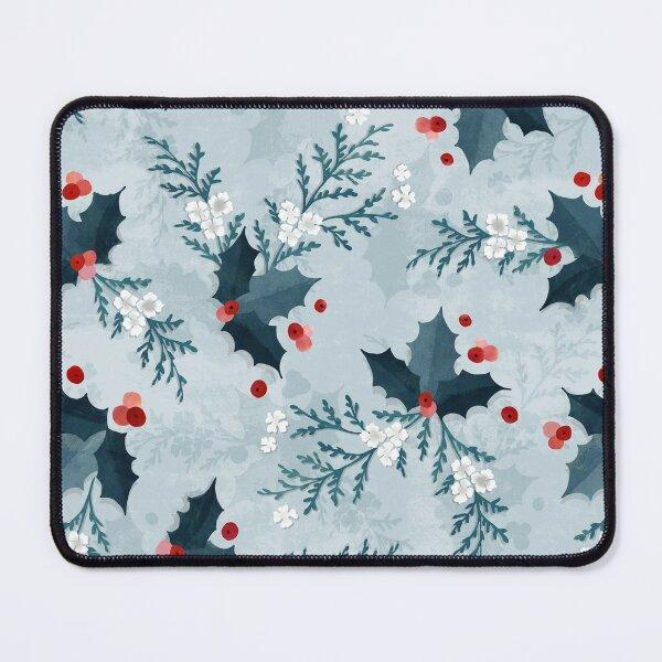 Christmas holly and cedar Mouse Pad