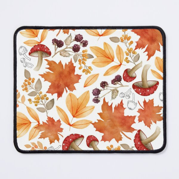 Autumn leaves and mushrooms Mouse Pad