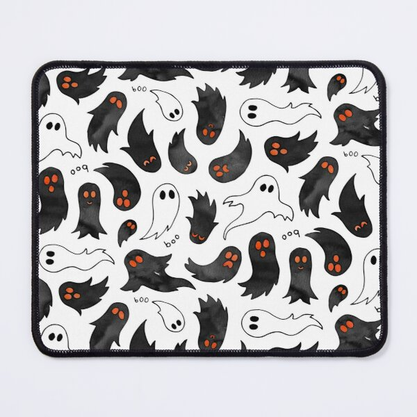 Cute watercolour ghosts with glowing eyes Mouse Pad