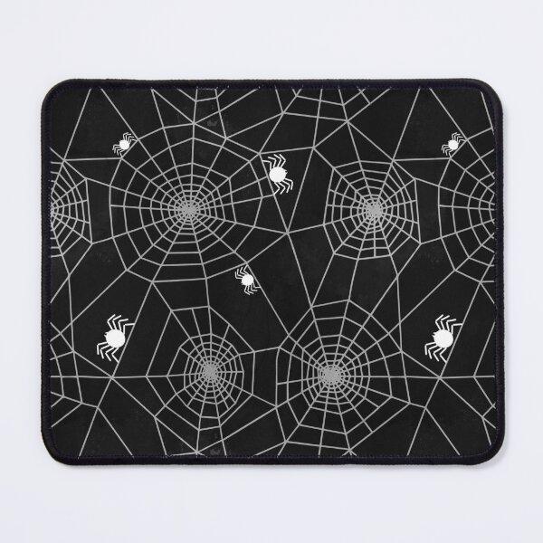 Halloween spider webs black Mouse Pad
