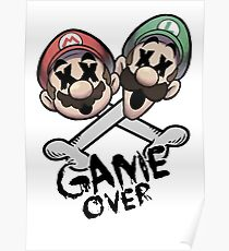 Mario and Luigi Game Over Poster