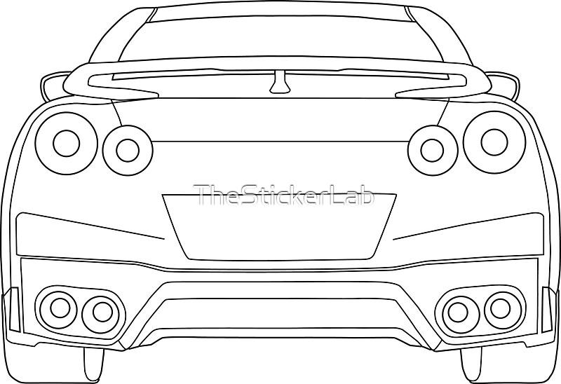 Line Drawing Nissan Gtr : R outline gt register nissan skyline and