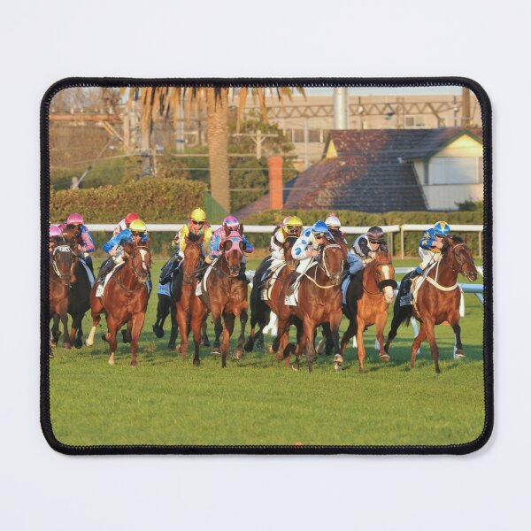 Horse racing action 13 Mouse Pad