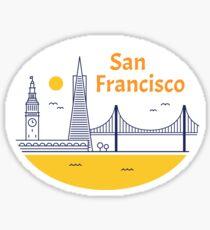 San Francisco skyline sticker Sticker