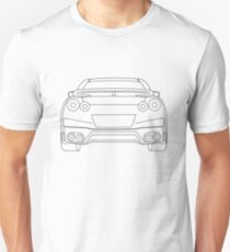 Nissan R35 GTR Rear Wireframe Design | Tee Shirt & Apparel - Black T-Shirt