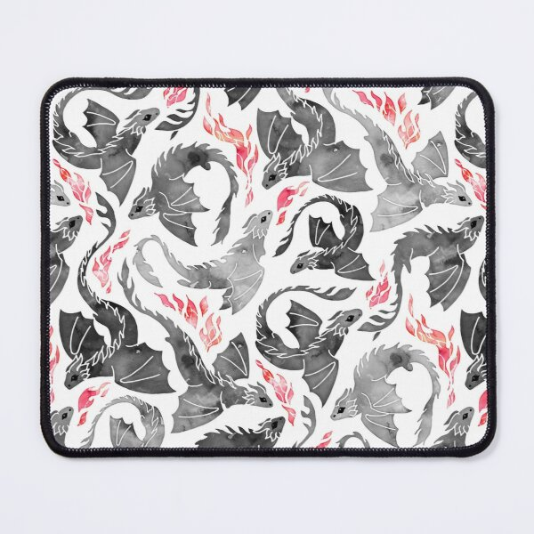 Dragon fire greys & blacks Mouse Pad