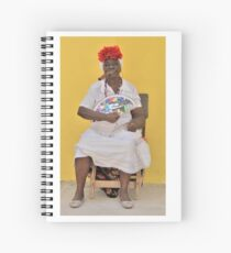 Cuban Woman with Fan  Spiral Notebook