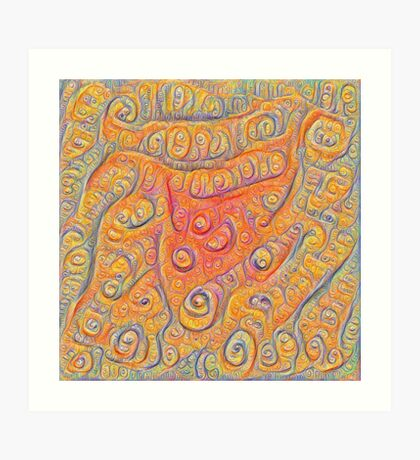 Orange #DeepDream Art Print