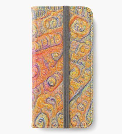 Orange #DeepDream iPhone Wallet