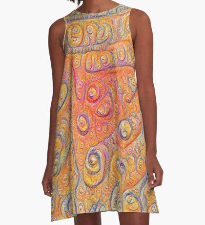 Orange #DeepDream A-Line Dress