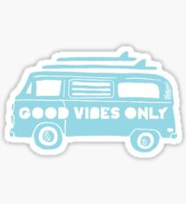 Good Vibes Only Camper Van Sticker