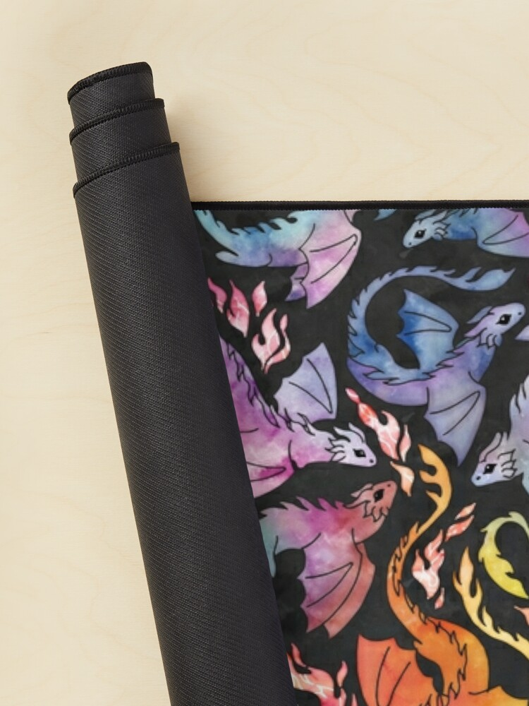 Alternate view of Dragon fire dark rainbow Mouse Pad