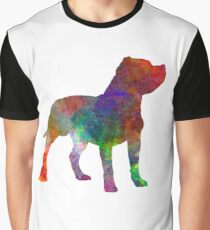 Staffordshire Bull Terrier in watercolor Graphic T-Shirt